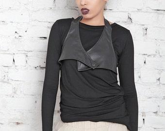 Plus Size Top/ Loose Top/ Gothic Top/ Black Tunic/ Black Top/ Loose Tunic/ Asymmetric Top/ Long Sleeve Tunic/ Drape Top/ Casual Top