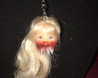 Morbid Barbie Head Gore Keychain