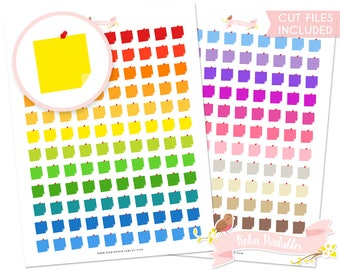 Post It Notes Printable Planner Stickers With Silhouette Cut Files Cute Sticky Note Sticker Sheet Personal Use DIY PDF