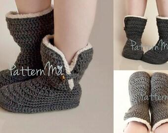Crochet Slipper Pattern (Women's size 5-12)  #22