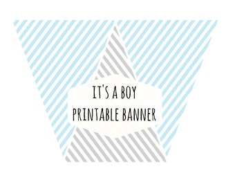 it's a boy banner,blue and grey banner,stripes banner,grey banner,baby blue banner,birthday banner,baby shower banner,banners,garland,lovely