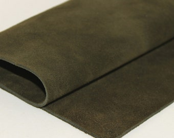 Army Green Suede, Genuine Leather,