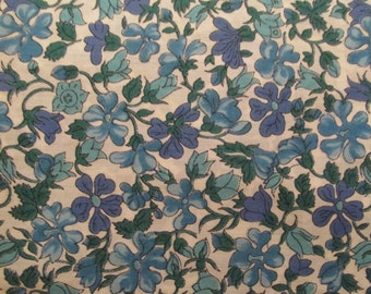 Vintage floral cotton 1 yard x 36 inches more available SALE