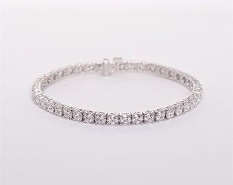The Alice - GIA certified 18K Diamond Tennis Bracelet