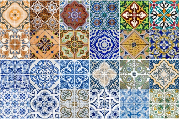 Tile stickers wall decal spenish style adesivi per piastrelle for Stickers adesivi per piastrelle