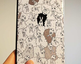 A6 notebook, Sheep notebook, A6 Notepad, Pocket jotter, small notepad, cute notebook, note taker, doodle pad, sheep gifts, sketchbook