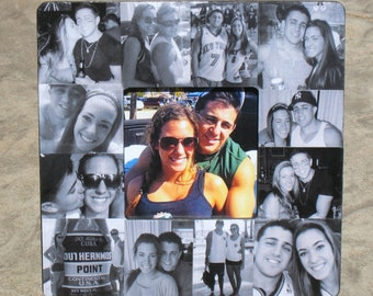 "Boyfriend Collage Picture Frame, Custom Collage Wedding Photo Frame, Personalized Engagement Gift, Unique Valentine's Day Gift, 8"" x 8"""