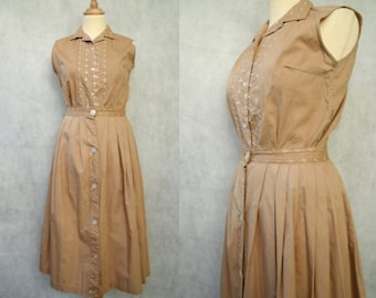 1940s Terracotta 2-Piece w/ Skirt and Blouse