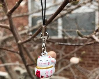 Neko Lucky Cat keychain