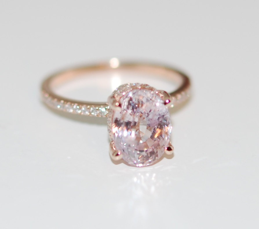 diamond lavender anniversary white halo media engagement ring gold shank sapphire gemstone weddings rings split
