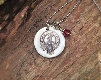 Je Suis Prest  - pewter necklace  - Outlander themed