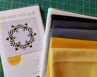 Bzzzzzz Mini Quilt  Quilt Kit   Whole Circle Studio Bee Quilt Kona Cotton 32 x 32