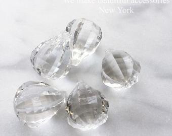 35mm Sparkle Bling Clear Chandelier Crystal Prisms Pendants Ball Decor Transparent Ornament Craft Supplies Design Window Display