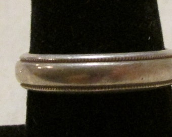 Sterling Silver Band Ring Size 9 1/4