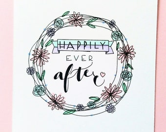 Happily Ever After Wedding Congratulations