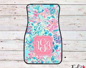 Monogrammed Lilly Inspired Car Mats - Gypsea