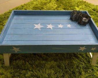 Dekotablett, bed tray, breakfast in bed, tray, tray, chalk color, Star, Hyggelig, stars, breakfast table, bed, Scandinavian