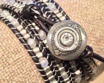 Leather Wrap Bracelet 5X
