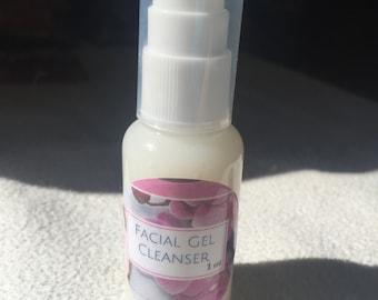 Luxurious Facial Gel Cleanser ~ Pump Bottle 1oz.