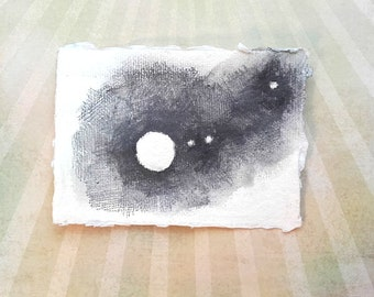Jupiter Moons - original night sky planets stars astronomy drawing