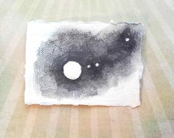 Jupiter Moons - original night sky planets stars astronomy drawing