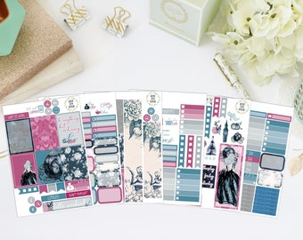 25% OFF SALE (no coupon needed) - Enchanted Deluxe Kit - Vertical Planner Stickers (Weekly Sticker Kit) - For Use With Erin Condren LP