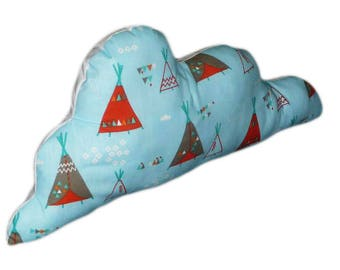 Indian TEEPEE cloud pillow