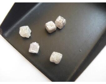White Diamond, Rough Diamond, Raw Diamond, Uncut Diamond, Diamond Cubes, 1 Piece, 4.5mm Approx