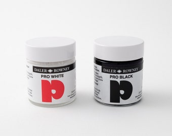 Pro White and Pro Black water-based opaque ink