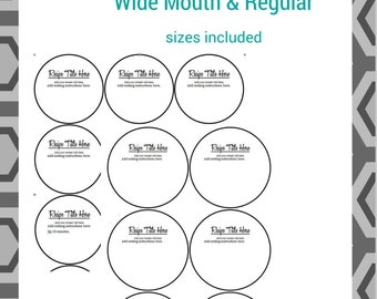 Editable Mason Jar Labels.  Includes wide mouth and regular mouth.