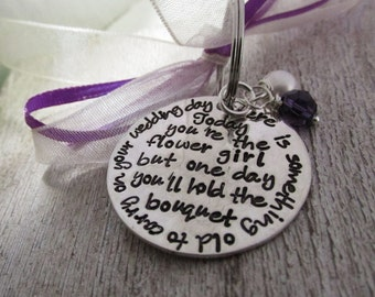Flower girl charm - Bouquet Charm - Bridal Party Favor