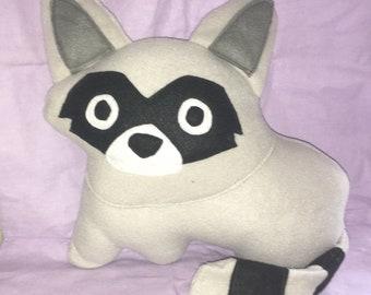Raccoon Plush Plushy Pillow