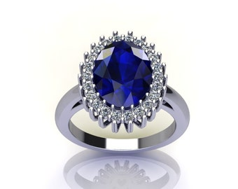 Hand Crafted Oval Engagement Ring