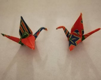Origami Earrings Red Crane
