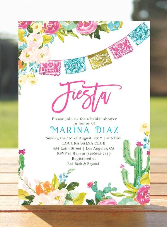 Fiesta Bridal shower invitation Mexican bridal brunch