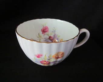 Radfords Crown china England, Gold Rimmed Floral Cup