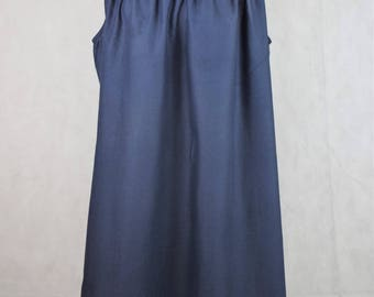 Sleeveless Denim Coloured Dress, Vintage Dress, Vintage Clothing, Women's Clothing, Clothing, Vintage, Dress, Dresses for women, Dresses