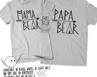 Mama Papa and Baby Bear Shirt Set. Baby Shower Gifts. Couples Shirts. Mama and Papa Shirts. Bear Shirts. Couples Tees. Dad Shirt. Mom Shirt CUIlbpsrtX