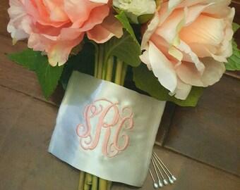 Monogram bouquet wrap with date option