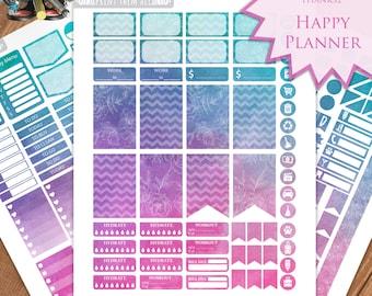 Watercolor  Planner Stickers - Happy Planner Stickers Printable - Weekly Planner - Stickers Set - Instant Download - Printable Planner - PDF