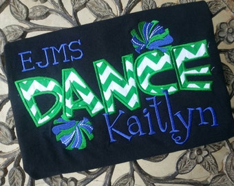Personalized Dance Shirt with school initials or company name
