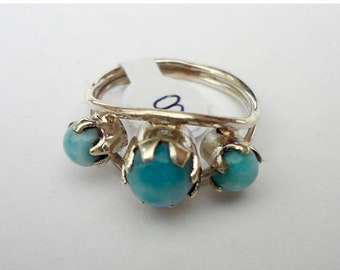 MOTHERS DAY SALE Gorgeous Genuine Aaa Grade Larimar Ring .925 Sterling Silver  Free U.S. Shipping  U.S. Size 8