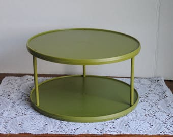 Vintage Rubbermaid Turntable Lazy Susan Green Tiered