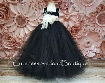 Black Girl Tutu-Black Wedding Tutu-Black Girl Tutu-Black Tutu Dress-Black Flower Girl Tutu Dress-Black Halloween Tutu-Black Wedding Tutu