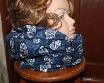 GIFT idea-snood, hood or protecting shoulders patterns fabric flowers
