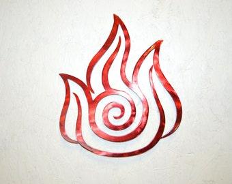Plasma Cut Fire Nation Metal Wall Art