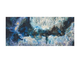 "36""x84"" SOLD. Made to Order. Original Oil Painting. Large Vertical Abstract Oil Painting. Encaustic Painting. Fine Art. Ocean Painting"