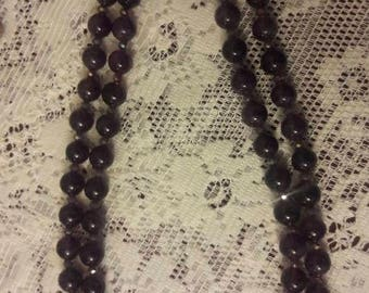 "21"" Double strand Amethyst necklace"