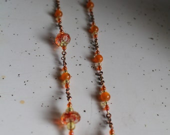 vintage handmade beaded necklace