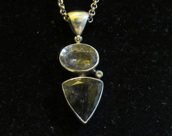 """Sarbo silver Love Easy with this pendant with chain """"sarbo"""" marked 25"""